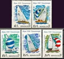 Russia USSR 1978, Sc# B79-B83 MNH, XXII Olympics 4 - sailing sport