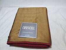 NEW Croscill Euro European Pillow Sham MOSAIC LEAVES 26x26 ~ Gold/ Red NIP