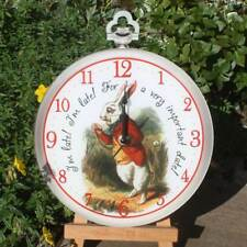 NOUVEAU! Alice au pays des merveilles horloge, Filles Chambre Horloge murale, Lapin Blanc Horloge,