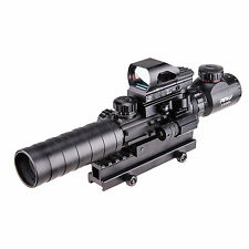 3-in-1 Combo 3-9x32EG Riflescope with red Laser & Red/Green Dot Sight