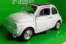Nex Modelos 1/24 escala 22515 Fiat 500 Nuova Coche Modelo Diecast Blanco Blanco