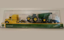 Tomy John Deere Hauler Semi Yellow with Tractor & Wheel Barrel, NEW