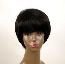 perruque afro femme 100% cheveux naturel courte noir ref WHIT 01/1b