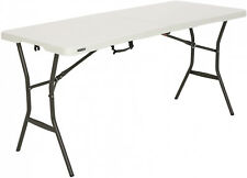 Lifetime 5 foot Light Commercial Folding Table Banquet Outdoor Indoor White