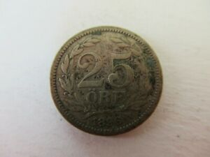 Norway 25 Ore 1896 Silver Coin