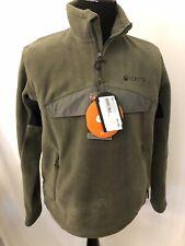 Brown Beretta Fleece 1/4 Zip Pullover Hunting Shooting Green Men's Sz M L [216]
