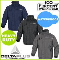 Heavy Duty Waterproof Mens Outdoor Jacket Warm Coat Tradesman Mechanics Builders