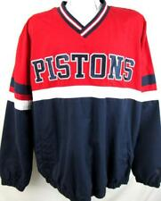 Detroit Pistons Mens 2X-Large Embroidered Pullover Windbreaker Jacket DPT 7