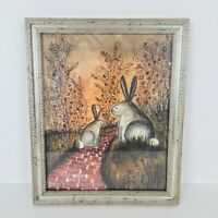 Bunny Trail By Eileen Smithson-Andrews Artist Signed Print Framed 9336