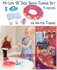 """18"""" Doll Winter Sports SNOW-TUBING Set for My Life as American Girl Boy Vacation"""