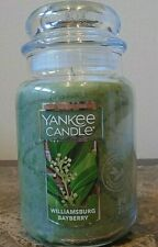 Yankee Candle  Williamsburg  Bayberry    22 oz.  1 Single  Free Shipping.