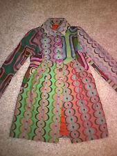 Desigual coat women black multi colour size 42 (XL) UK14 , NEW