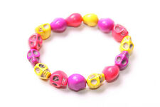 Signs Stones Bracelet (T459) Stylish Women Accessory Yellow,Violet&Pink Goth