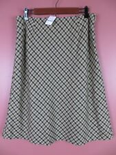 SK11039- NWT PETITE SOPHISICATE Woman 72% Wool A-Line Skirt Plaids Sz 14 $69