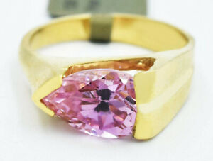 GEMSTONE 2.35 Cts PINK SAPPHIRE LADIES RING 10k GOLD ** New With Tag *