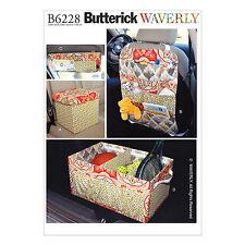 Butterick Sewing Pattern 6228 Waverly Car Organizers Auto Travel Storage NEW