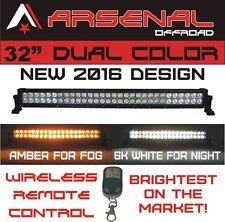 "32"" Dual Color Amber/White Stroboflash Led Remote Light Bar Offroad 4x4 Truck"