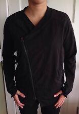 Lululemon Size 8 Mula Bundle Wrap Zip Up Jacket Black Stripe EUC coat run Define