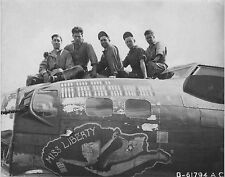 WW2 Photo WWII B-17 Flying Fortress Miss Liberty Nose Art  World War Two / 5188