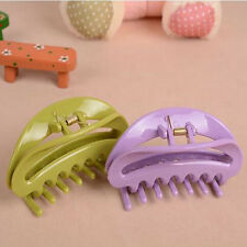 1Pc Colorful Ladies Hair Claw Semicircle Hairclip Bathing Hairpin Accessories