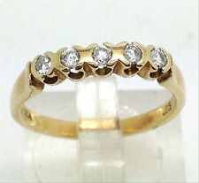 9ct gold diamond ring UK size M, 0.25CT, excellent condition, Half Eternity. UK.