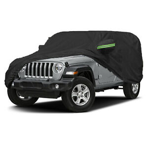 420D Oxford Full Car Cover Waterproof Vehicle Dust Protection For Jeep Wrangler