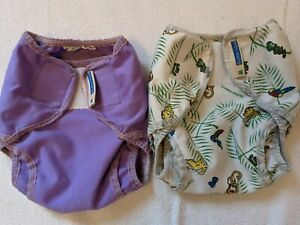 2 x Motherease Rikki Wraps (Small)  Pre loved, for reusable cloth nappies