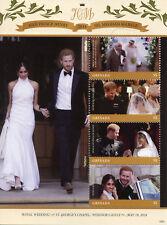 More details for grenada royalty stamps 2018 mnh prince harry & meghan royal wedding 4v m/s