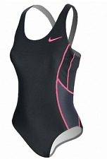 Nike 708640 Women's Triathlon Fast Back Tank Tri SwimSuit  Black Pink M - $72