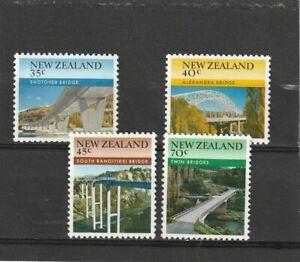 New Zealand 1985 Bridges Set MNH