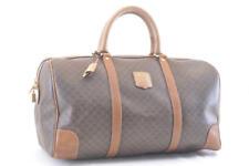 CELINE Macadam PVC Leather Boston Bag Brown Auth 2641