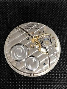 Antique Hamilton 912 Pocket Watch Movement 17j 12s - For Repair
