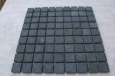 Sample Black Tumbled Basalt 3cm by 3cm Mosaic wall tiles wetroom kitchen