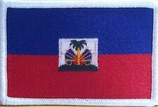 HAITI Flag Patch Tactical With VELCRO® Brand Fastener Shoulder White Emblem #7