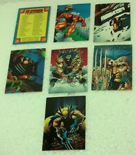 """1992 Marvel Wolverine cards """"From Then 'Til Now"""" #s 15 - 20 + checklist #90 Vg"""