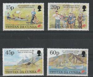 TRISTAN da CUNHA 10 JULY 1995 ANN OF THE END OF THE WAR SET ALL 4 STAMPS MNH