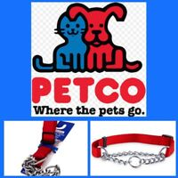 🐶Petco Check Nylon & Chain Collar {Large} Dogs  44-110lbs 1X15-26 Inches🐶