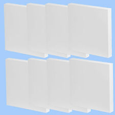 8x PLAIN +SMALL 7cm SQUARE CANVAS+ Mini Boards Art Acrylic/Oil Paint Blank/White
