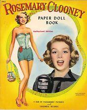 Vintage Uncut 1940S Rosemary Clooney Paper Dolls ~Lowe~Org Sz~Laser Reproductio