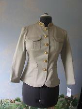 Michael Kors Tan Khaki Women Blazer Suit Jacket Long Sleeve Size 10 New