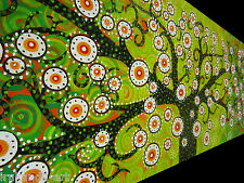 Australia  Painting  Canvas Aboriginal INSPIRED Art Tree Flower Of Life  green