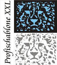 Schablone, Wandschablone, Afrika, Malerschablone, Deko - Löwenkopf XXL 67x50cm