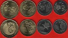 Malaysia set of 4 coins: 5 - 50 sen 2012 UNC