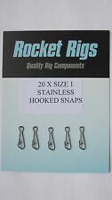 Rocket Stainless Hooked Snaps (size 1 X 20)