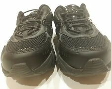 Tony Little Cheeks Fit Body Exercise Sz 7 BLACK LEATHER GYM SHOES