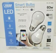 FEIT Electric Smart Wi-Fi LED Color Changing Dimmable 60W Bulbs 2-pk