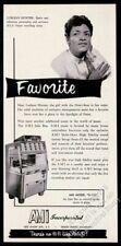 1956 AMI G jukebox Lurlean Hunter photo vintage print ad