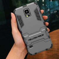 For Samsung Galaxy S5 S6 S7 S6 Edge Amor Shield Slim Hard Case Cover Kick-Stand