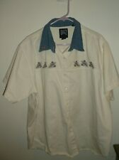 Quizz NY Women's Size 22 Cream Denim with Embroidered Flowers