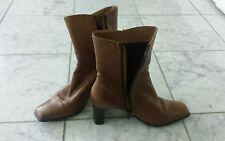 ZANON & ZAGO Damen-Stiefel MANDORLA CAMEL Größe 39 BRAUN Absatz 6cm